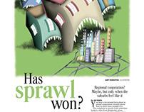 Newspaper layout/illustration