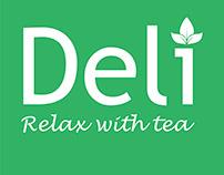 Logo Trà Sữa Deli