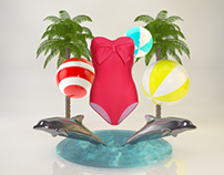 Swimsuit 3D set