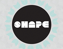"Font ""SHAPE"" created by Alessandra Daniele"
