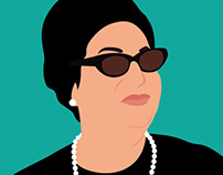 umm kulthum digital drawing