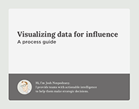 Visualizing data for influence: a process guide