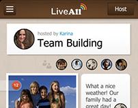 Liveall IOS APP UI/UX design