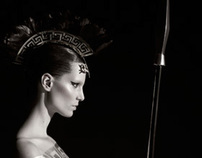Headpiece Pirelli Calendar 2011 shot by Karl Lagerfeld
