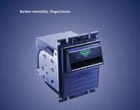 """CashCode """"Banker Mentality. Vegas Hours."""" Trade Ad"""