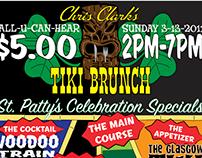 Client: Chris Clark Presents - Music/Show Poster/Flyers
