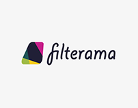 Filterama logo design