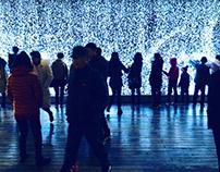 Intearactive Snow Wall Installation - Xi'an Light Fest