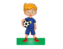Football boy character using adobe illustrater