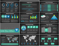108+ infographics charts PowerPoint template