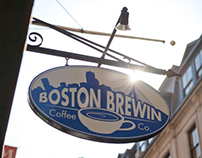 Boston Brewin Coffee Co. Branding