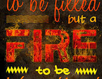 Fire quote poster