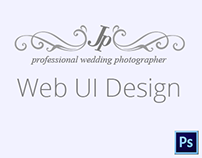 Wedding Photography Web UI- One Pager
