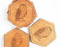 Laser etched coasters