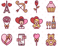Valentine's Day icon set - Free