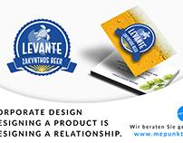 Grafikdesign / Visitenkarten Levante Beers Zakynthos