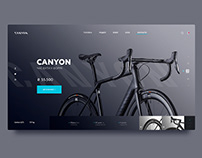 Canyon Road bike. Start screen