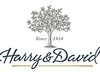 Harry & David Logo Illustrated by Steven Noble