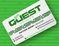 Stainless Steel Business Card for Realtor