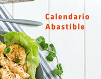 Calendario con recetas Abatible