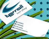Terral Surf Shop: Cartão e sacola para liquidação