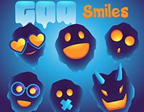 Goo smiles. Sticker pack.