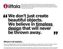 iittala glassware history poster