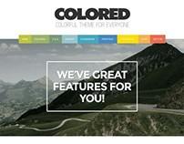 Colored, Premium WordPress Portfolio Theme