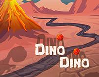 Dino Dino Game - UI Design & Illustration