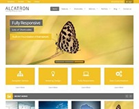 Alcatron, Premium WordPress Yellow Business Theme