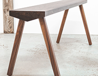 LIGNA wooden bench