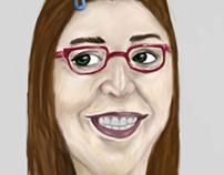 Amy Farrah Fowler- Mayim Bialik Caricature