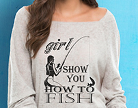 Fishing Woman T-shirt