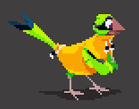 Bird Character Pixel Animations