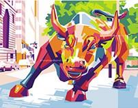 Wall Street Bull in WPAP