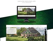 Website Garden Architect, Portfolio design