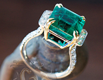 Making of the 8ct Zambian Emerald & 1,15ct F Vs1 Diams