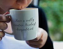 Woman Drinking from Coffee Mug Mockup Free Sample