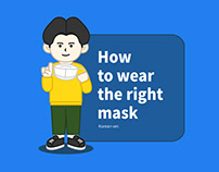 """""""How to Wear the Right Mask"""" infographic illustration"""