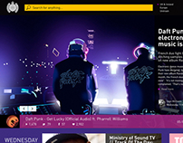 Ministry Of Sound Website Concept