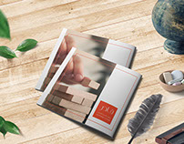 kader -Square brochure Template