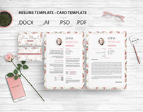 Pack Resume and Card Template / Free Coverletter M
