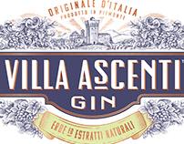 Villa Ascenti Gin Label Illustrated by Steven Noble