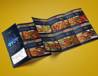 Tri Fold Brochure Food Menu Traditional Design