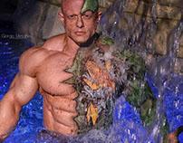 "Bodypainting Water resistant "" L'Uomo e il Dragone"""