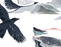 Corbeau noir, cygne blanc / Black raven, white swan