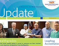 Medical Center Health Services Newsletter Redesign