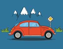 Car Love Illustrations