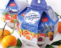 Снежные фрукты. Snowy fruit.