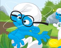 Little blue guys sample art